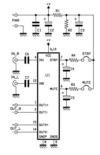 amplificador de audio 10 10w  u2013 automatismos mar del plata